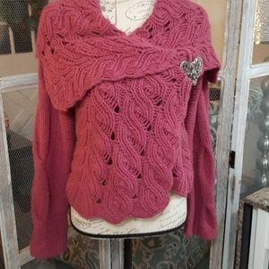 Sleeping on Snow Wrap Sweater